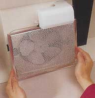 Remove the grill and filter and clean the filter with lots of warm water and liquid detergent.
